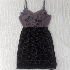 Xhilarartion black and gray sleeveless dress